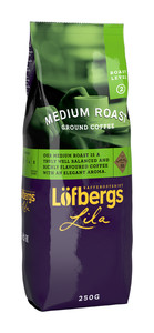 LOFBERGS MEDIUM ROAST GROUND COFFEE 250G, MIELONA