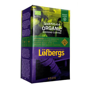 LOFBERGS SAVANNAH ORGANIC EKO GROUND COFFEE, 450G