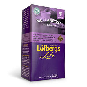 LOFBERGS MEDIUM ROAST GROUND COFFEE 500G, MIELONA
