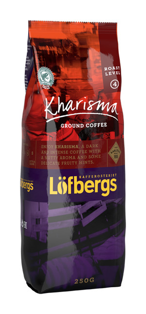 LOFBERGS KHARISMA GROUND COFFEE 250G, MIELONA